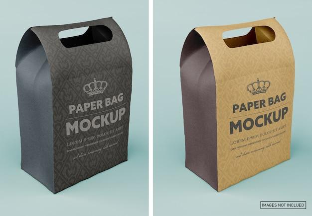 Maquette de sac en papier mat