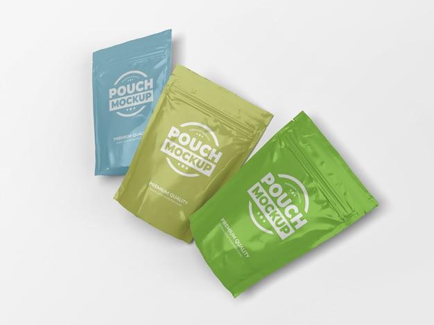 Maquette de sac de poche alimentaire