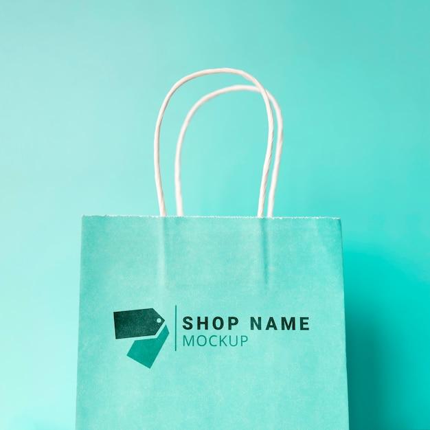Maquette de sac avec promotion de vente