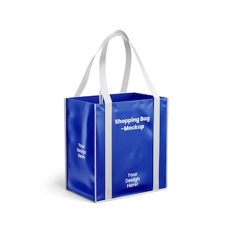 Maquette de sac à provisions isolé isolé