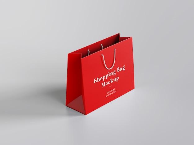 Maquette de sac à provisions en papier