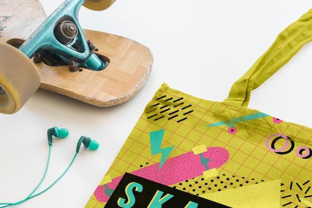 Maquette de sac shopping moderne