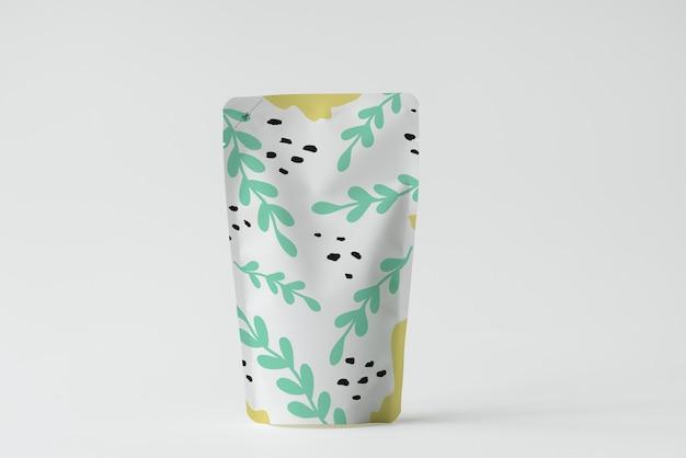 Maquette de sachet d'emballage de produit coloré