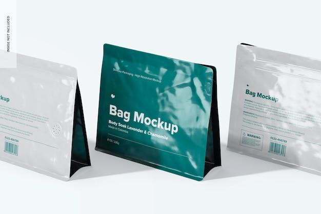 Maquette de sacs de 8 oz, vue en perspective