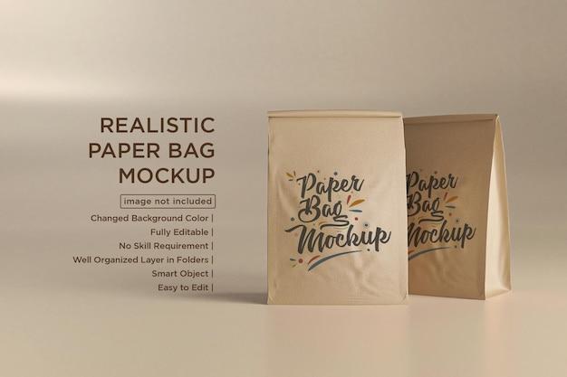 Maquette de sacs en papier