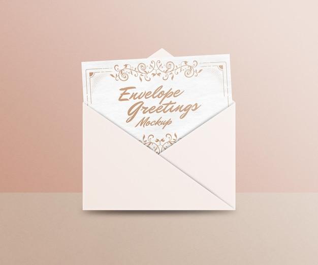 Maquette de salutations d'enveloppe