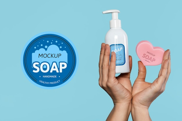 Maquette de savon pour se laver les mains