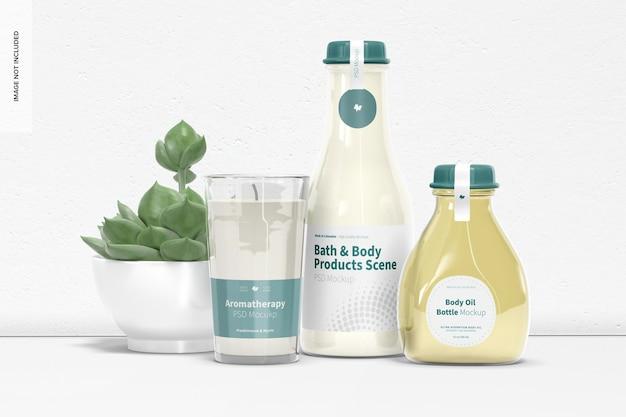Maquette de scène de produits pour le bain et le corps