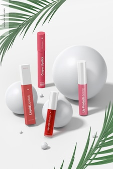 Maquette de scène de produits pour les lèvres