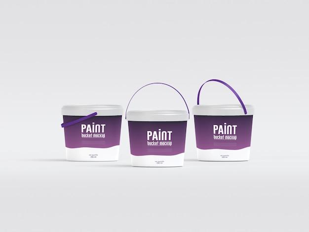 Maquette de seau de peinture en plastique