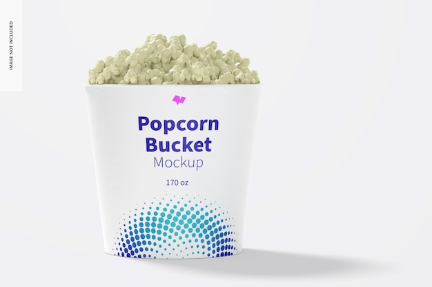 Maquette de seau à pop-corn de 170 oz