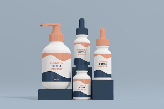 Maquette de sérum cosmétique 3d