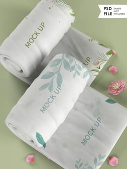 Maquette de serviette