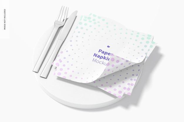 Maquette de serviettes en papier