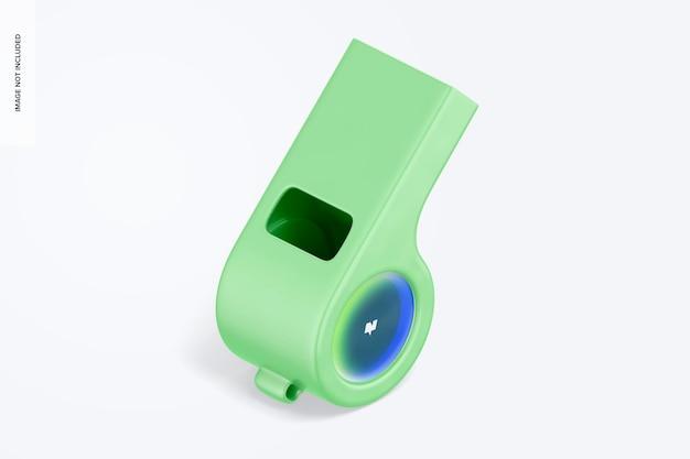 Maquette de sifflet en plastique, vue isométrique