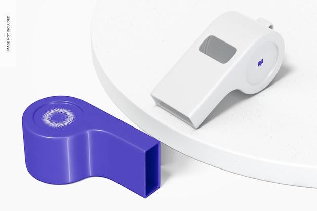 Maquette de sifflets en plastique