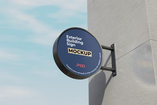 Maquette de signe de bâtiment extérieur