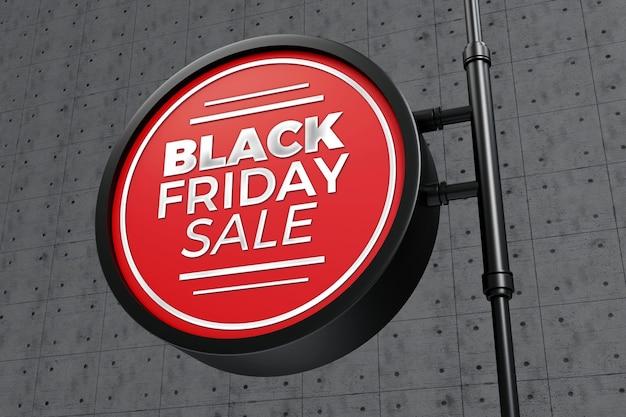 Maquette de signe de concept vendredi noir