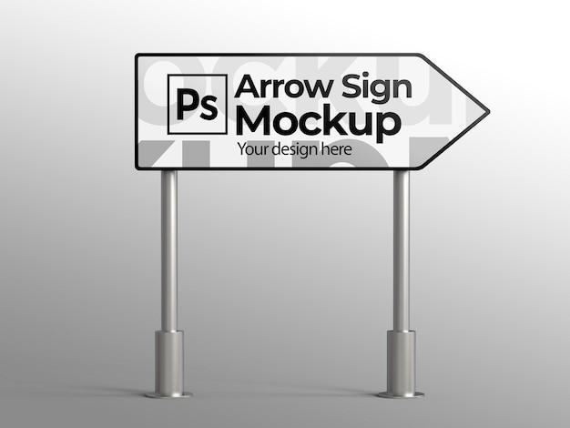 Maquette de signe de flèche pour la publicité ou la marque