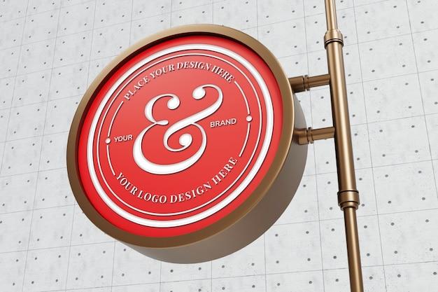 Maquette de signe de logo élégant