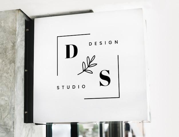 Maquette de signe de magasin moderne