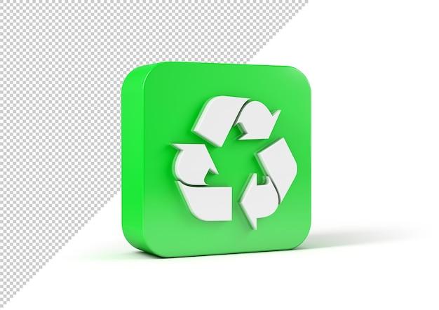 Maquette de signe de recyclage