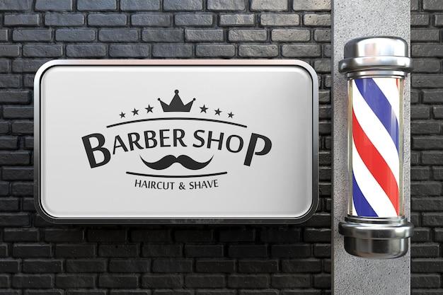 Maquette de signe de salon de coiffure