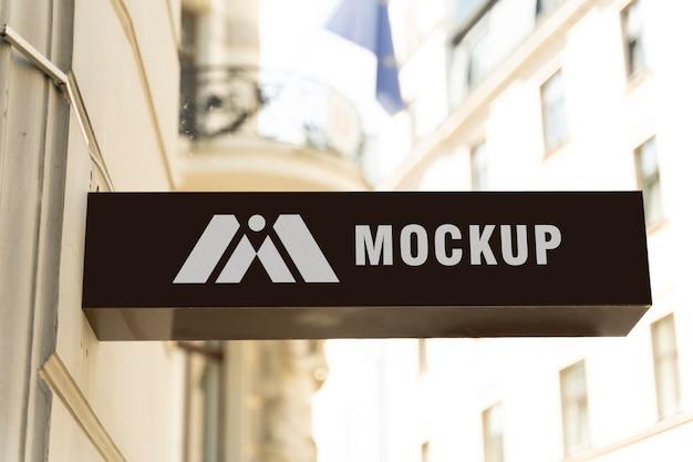 Maquette de signes commerciaux de la ville