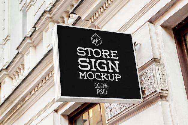 Maquette de signes de magasin