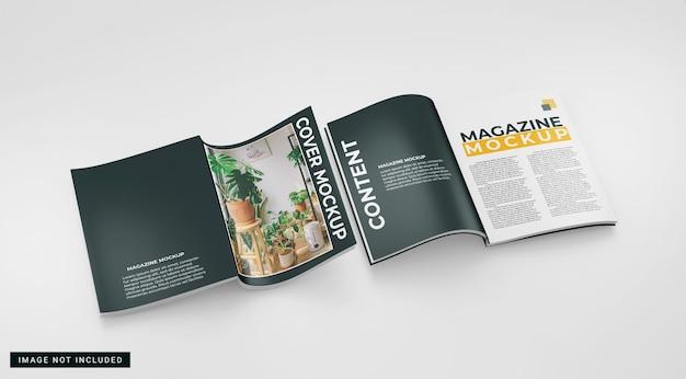 Maquette simple de deux magazines
