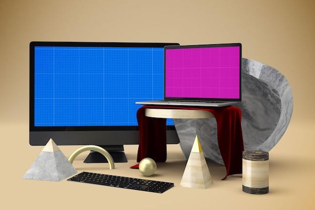 Maquette de site web abstrait