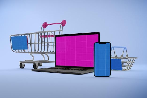 Maquette de site web d'achat réactif