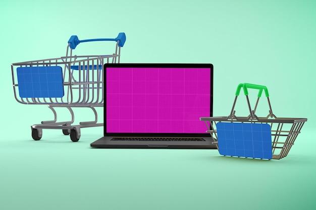 Maquette de site web d'achat