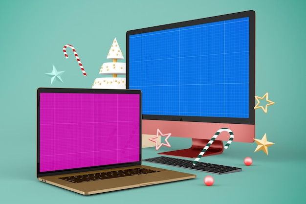 Maquette de site web de noël