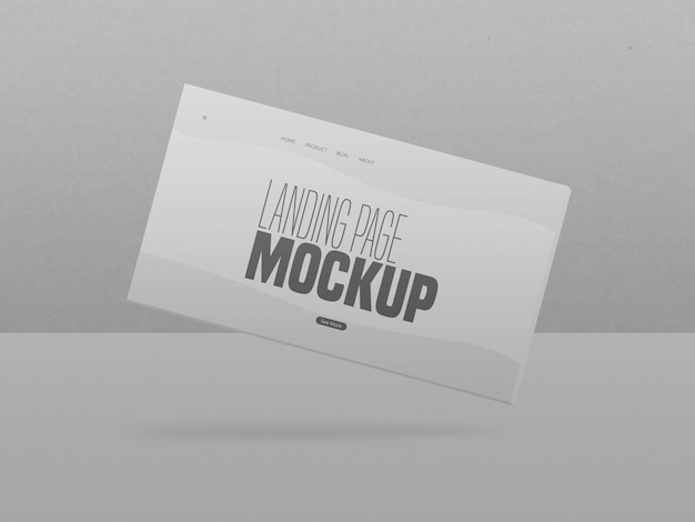 Maquette de site web de page de destination propre minimale