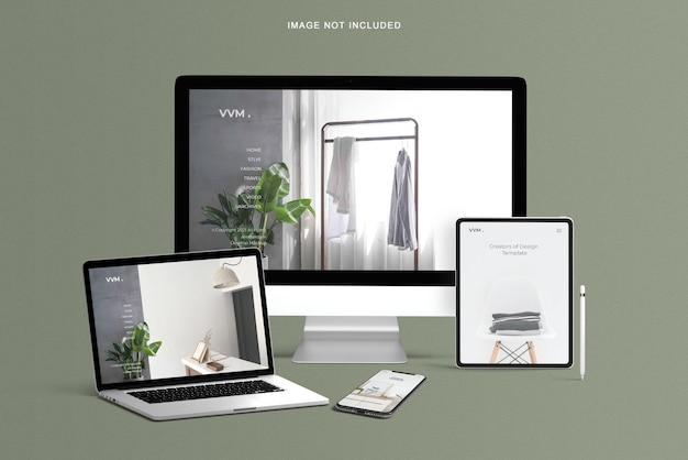 Maquette de site web réactif pour plusieurs appareils