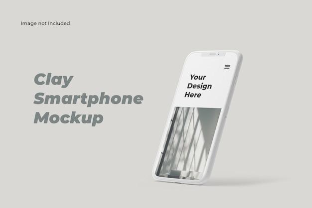 Maquette de smartphone en argile simple