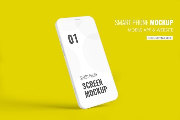 Maquette de smartphone blanc en rendu 3d