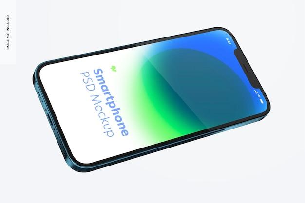 Maquette de smartphone sur blanc