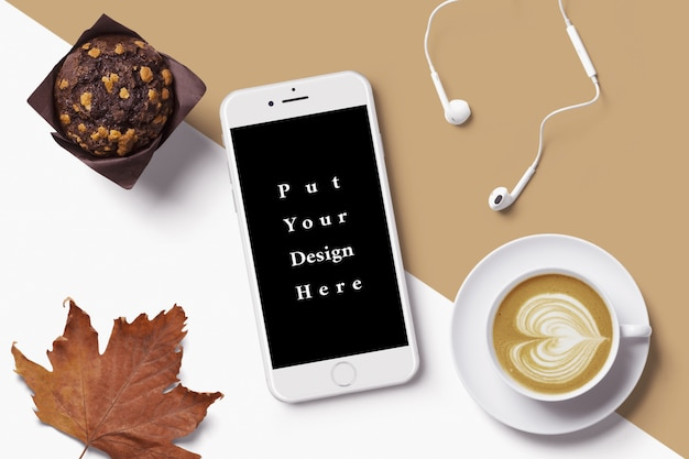 Maquette smartphone blanche
