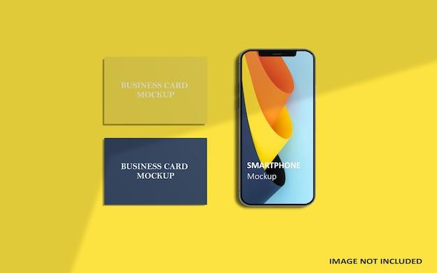 Maquette de smartphone et de carte de visite
