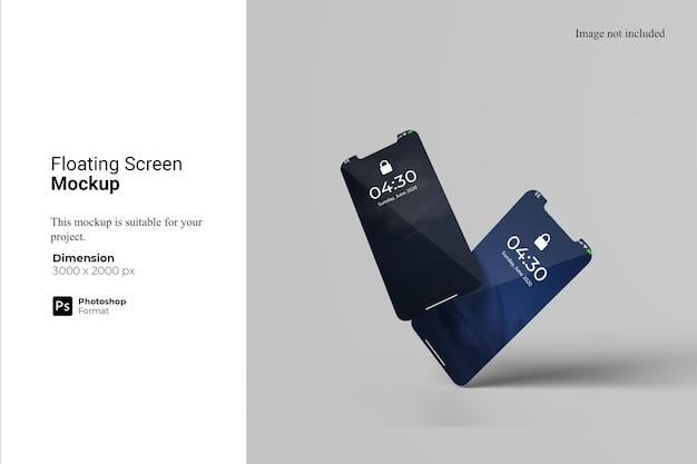 Maquette de smartphone à écran flottant