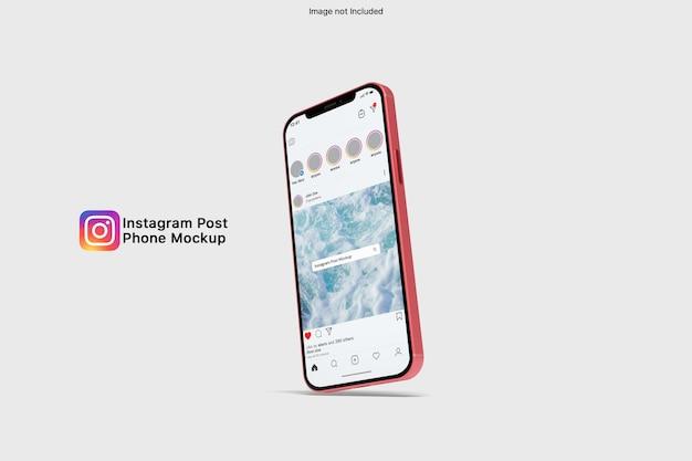 Maquette de smartphone instagram