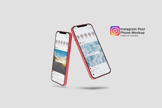 Maquette de smartphone de médias sociaux