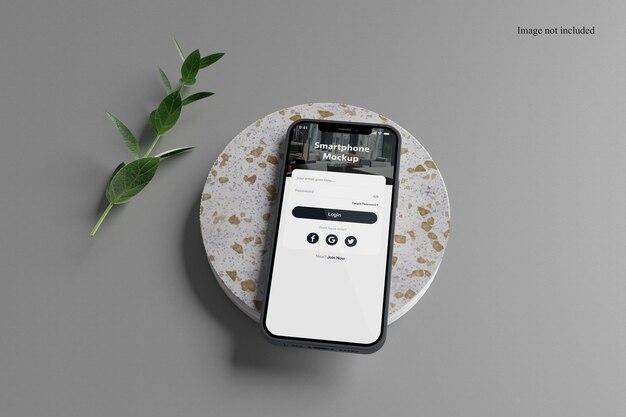Maquette de smartphone minimaliste