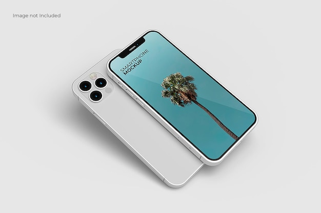 Maquette de smartphone en perspective