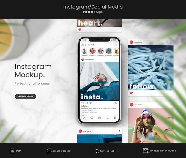 Maquette de smartphone pour afficher les publications instagram