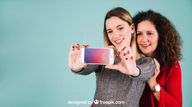 Maquette de smartphone pour la fête des mères