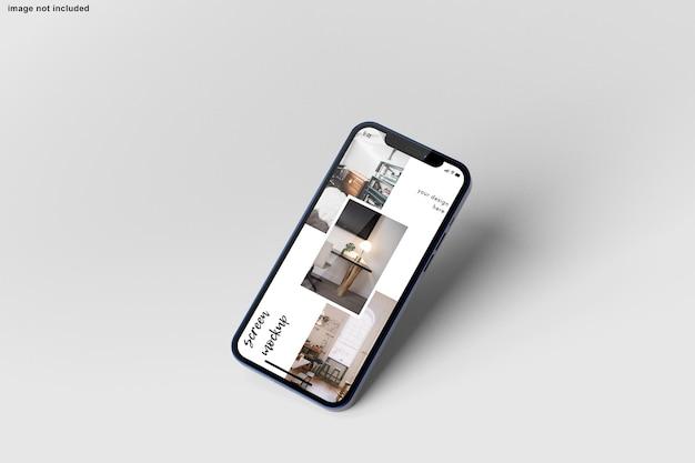 Maquette de smartphone pour la présentation de la conception