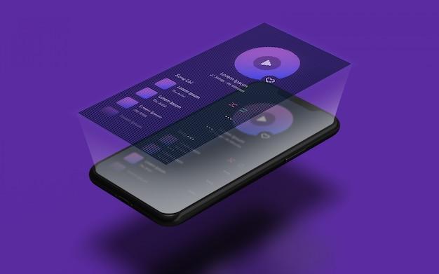 Maquette de smartphone de présentation de l'interface utilisateur
